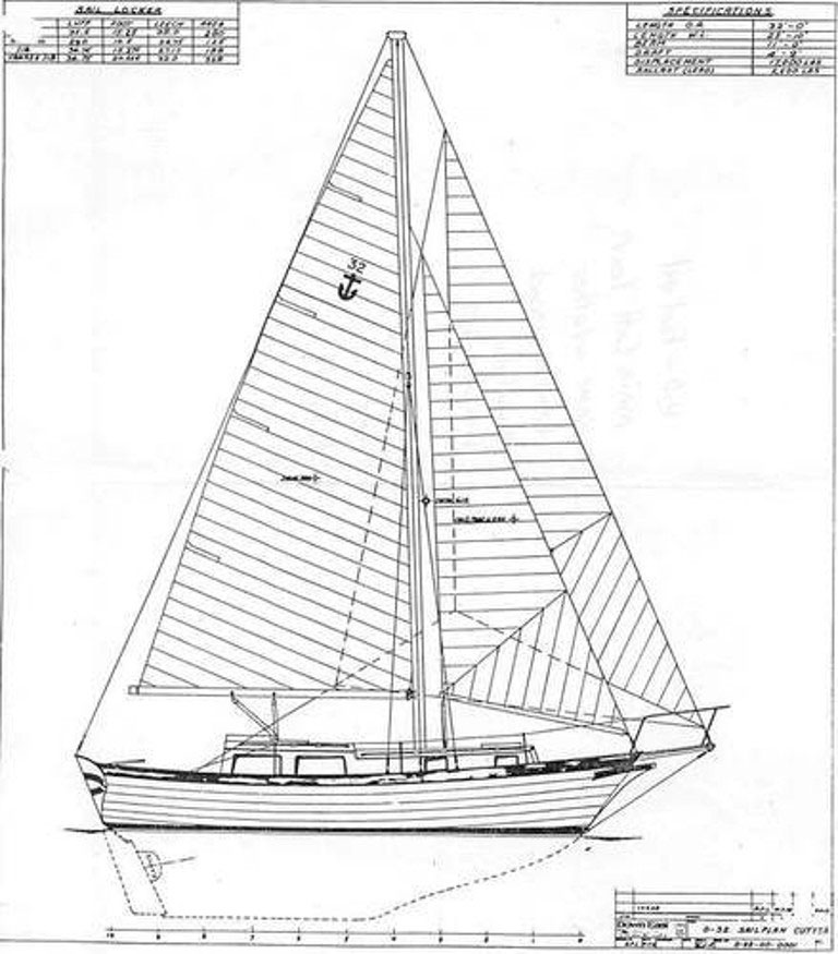 downeast 32 sailboat