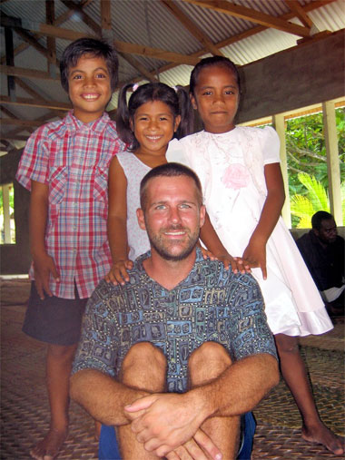 Kiribati Children at church
