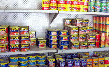 Canned Spam choices in Kiribati