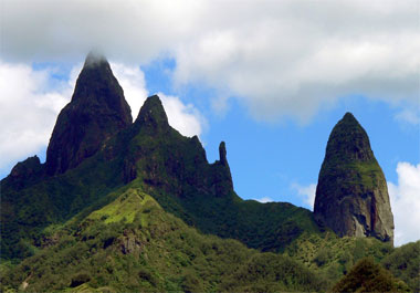 mountain peaks of Ua Pou, Marquesas