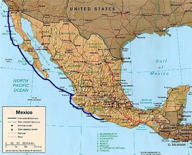 Cruising Mexico Map