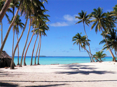 Beach at Palmerston Atoll in the Cook Islands