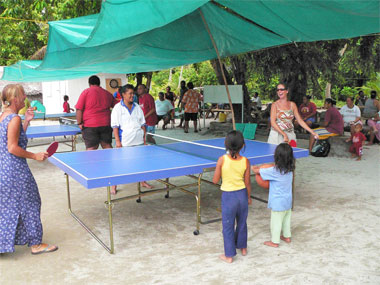 table tennis at Palmerston