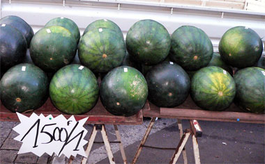 high priced watermelons in Papeete