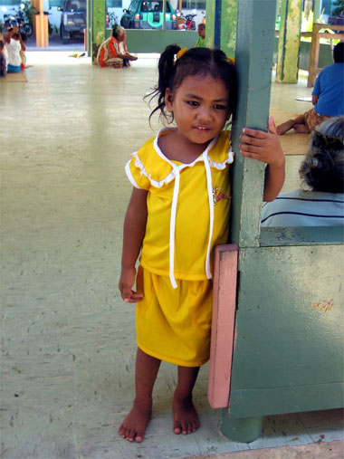 girl at pre-school